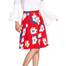 Buy Yumi Floral Skater Skirt, Red Online at johnlewis.com