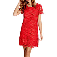 Buy Yumi Lace Shift Dress, Red Online at johnlewis.com
