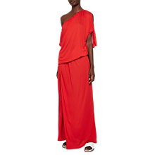 Buy French Connection Tanna Jersey Asymmetric Dress, Shanghai Red Online at johnlewis.com