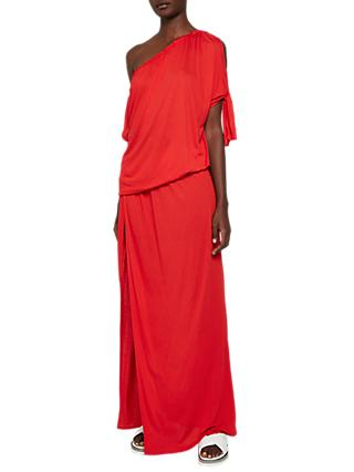 French Connection Tanna Jersey Asymmetric Dress, Shanghai Red