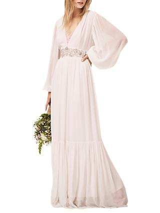 French Connection Cari Maxi Bridal Dress Summer White