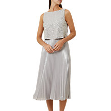 Buy Hobbs Evelyn Dress, Silver Online at johnlewis.com