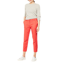 Buy Mint Velvet Stretch Cotton Cropped Trousers, Watermelon Online at johnlewis.com