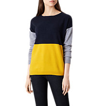 Buy Hobbs Sofia Jumper, Yellow Multi Online at johnlewis.com
