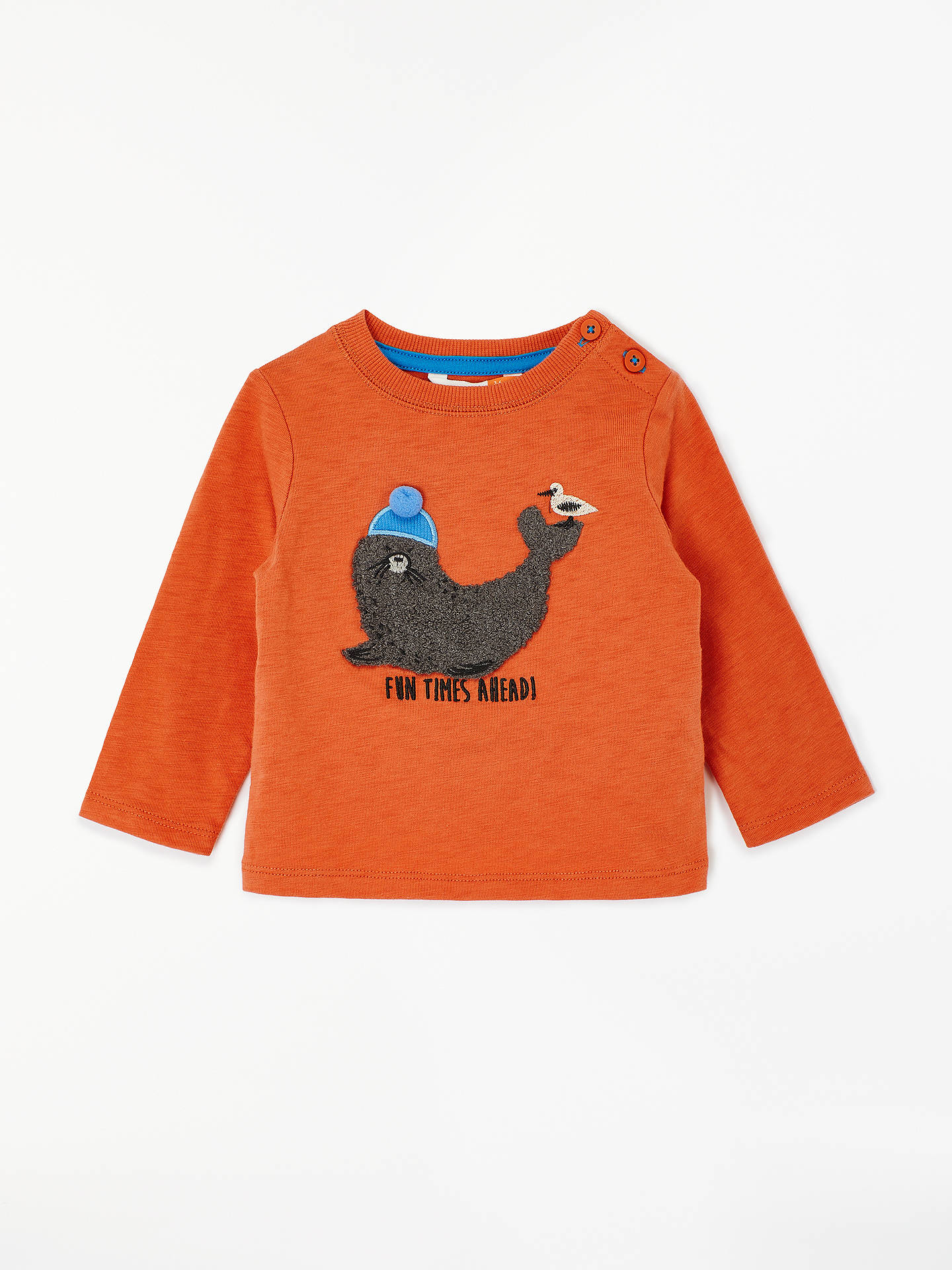 04362c36664e John Lewis   Partners Baby Seal Applique T-Shirt