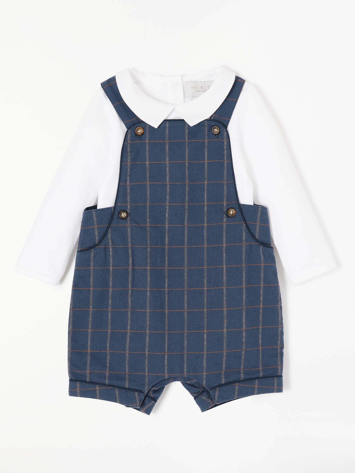 Grey 2-3 Years New John Lewis Heirloom Collection Baby Shirt /& Dungaree Set