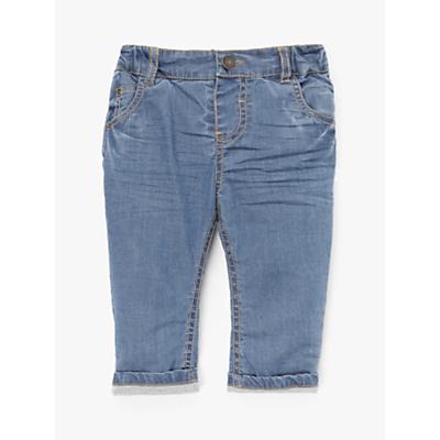 John Lewis & Partners Baby Stretch Denim Jeans, Blue