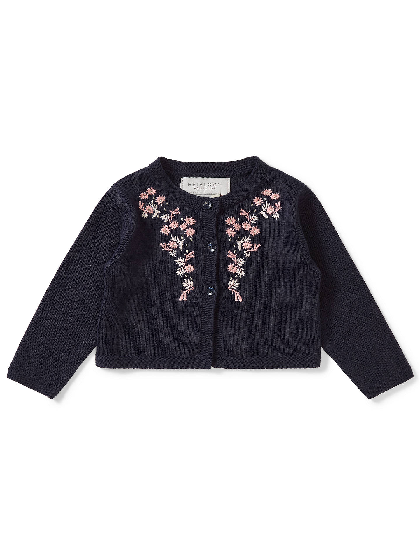 867bb206d37 Buy John Lewis   Partners Heirloom Collection Baby Floral Embroidered  Cardigan