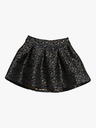 Wheat Girls' Hope Abstract Print Skirt, Grey