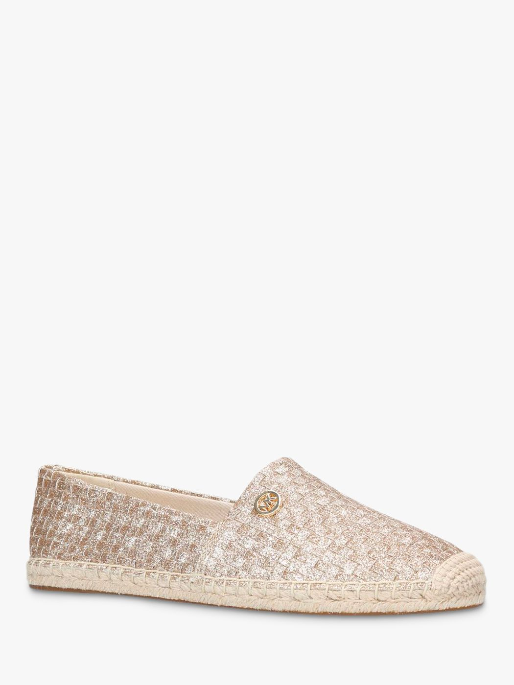 220dd54da MICHAEL Michael Kors Kendrick Slip On Espadrilles, Gold at John Lewis &  Partners