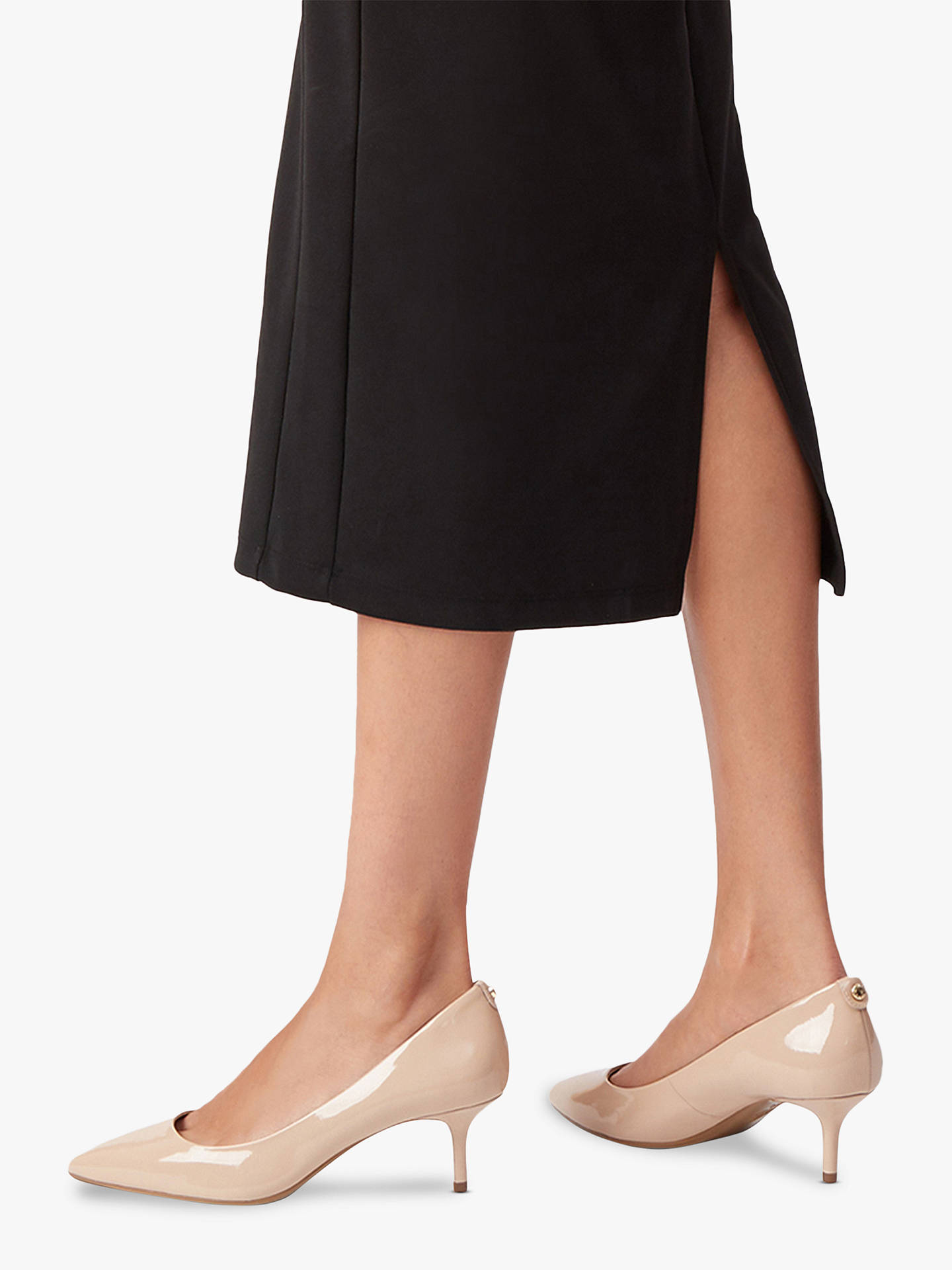 best value low price authorized site MICHAEL Michael Kors Flex Kitten Heeled Court Shoes, Pink at John ...