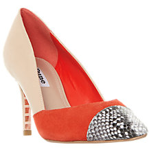 Buy Dune Aveeva Stiletto Heel Court Shoes, Multi Leather Online at johnlewis.com