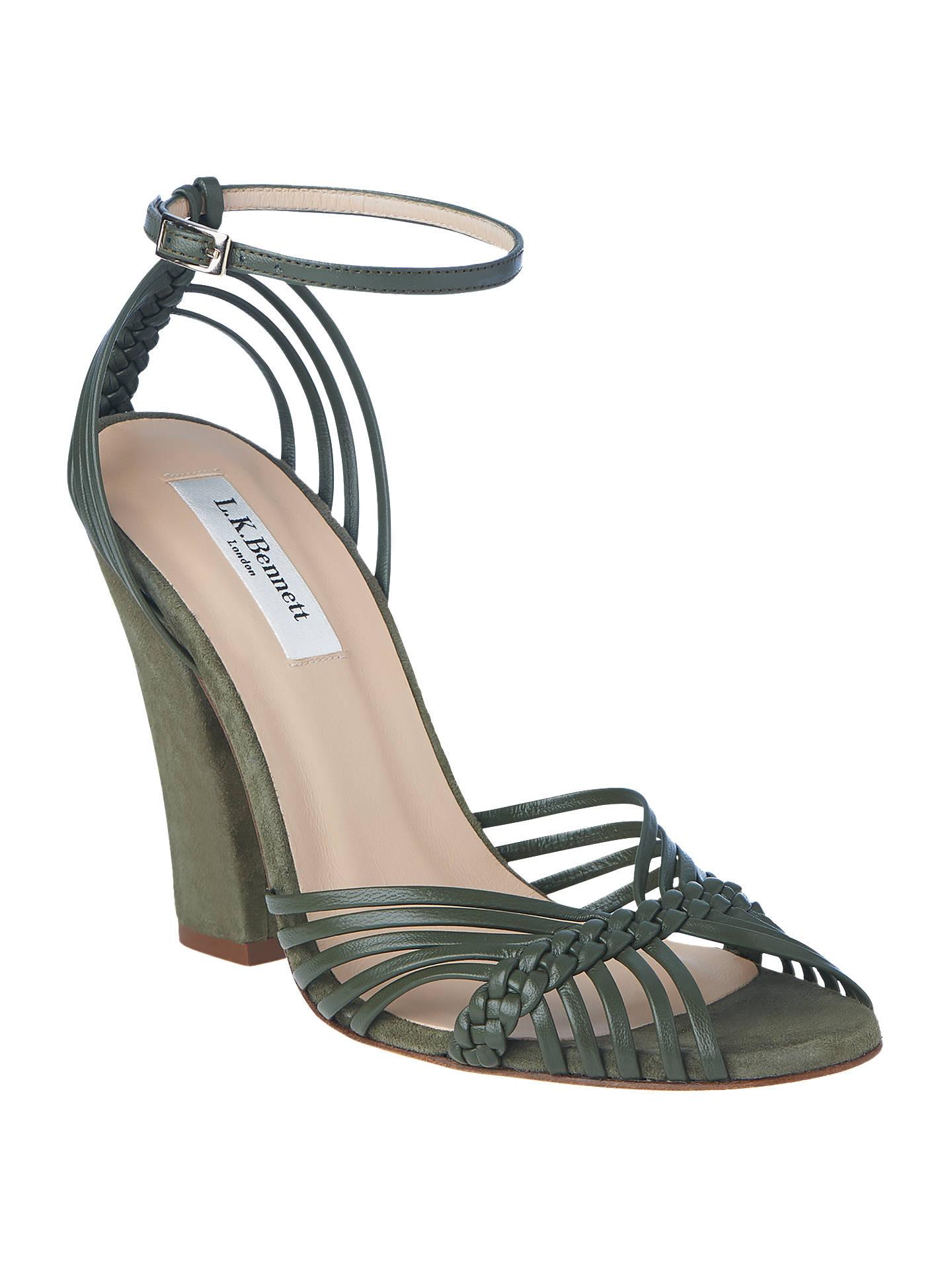 791c8971ea697b L.K.Bennett Lily Belle Block Heel Sandals at John Lewis   Partners