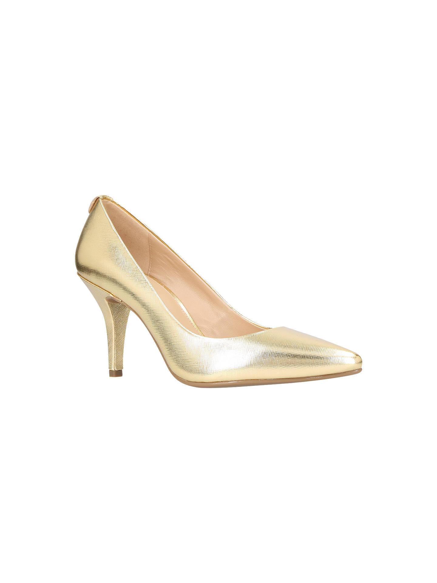 aa68fcbe3b5 MICHAEL Michael Kors Flex Pump Court Shoes, Gold Leather at John ...