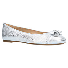 Buy MICHAEL Michael Kors Alice Ballet Pumps, Silver Leather Online at johnlewis.com