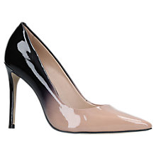 Buy Carvela Alice 2 Stiletto Heeled Court Shoes, Beige Patent Online at johnlewis.com