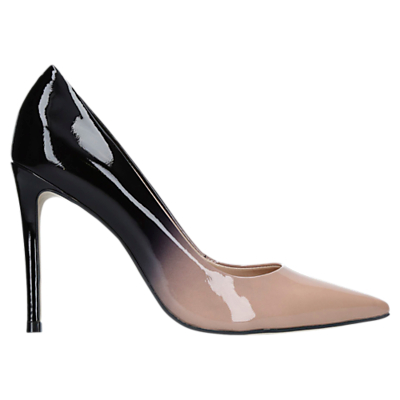 Carvela Alice 2 Stiletto Heeled Court Shoes, Beige Patent