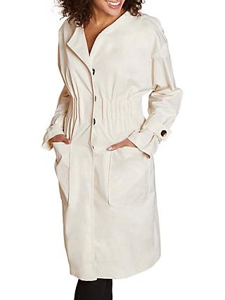 Yumi Elasticated Trench Coat, Beige