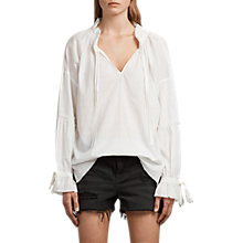 Buy AllSaints Adara Top, Chalk Online at johnlewis.com