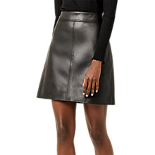Buy Warehouse A-Line Skirt, Black Online at johnlewis.com