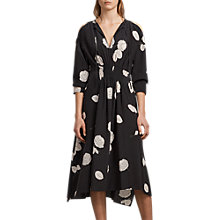 Buy AllSaints Lavete Silk Dress, Black Online at johnlewis.com