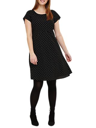 Studio 8 Maria Spot Swing Dress, Black/White