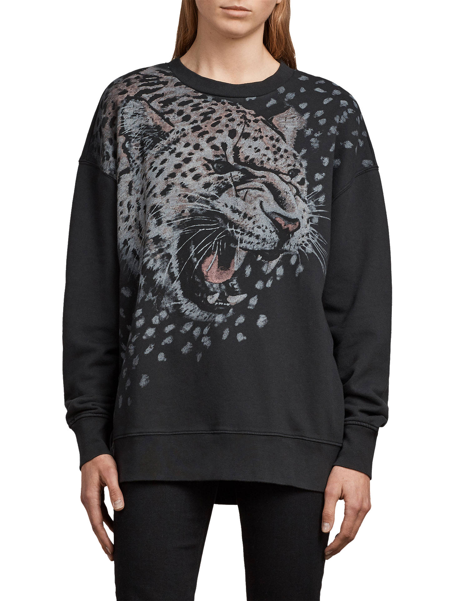 BuyAllSaints Sabre Joy Jumper, Black, XS Online at johnlewis.com