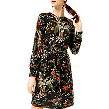 Buy Warehouse Barbara Print Dress, Black Pattern Online at johnlewis.com