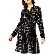 Buy Warehouse Mono Check Shirt Dress, Black Pattern Online at johnlewis.com