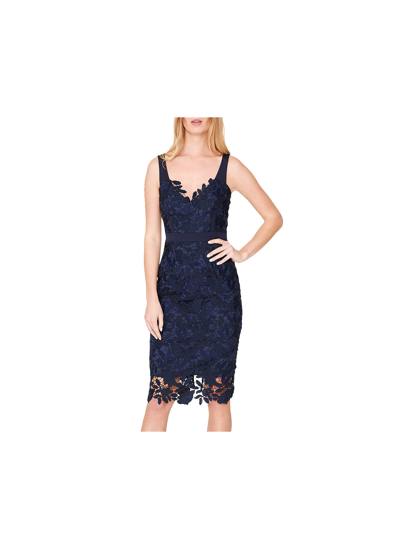 3a481923a Damsel in a Dress Abella Boned Lace Midi Dress