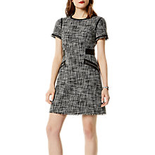 Buy Karen Millen Fun Tweed Dress, Black/White Online at johnlewis.com