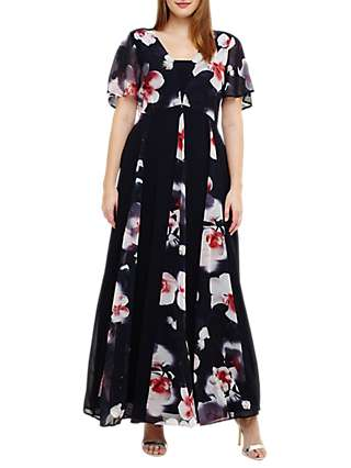 Studio 8 Penelope Maxi Dress, Navy/Multi