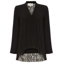 Buy Damsel in a Dress Ruthie Lace Back Blouse, Black Online at johnlewis.com