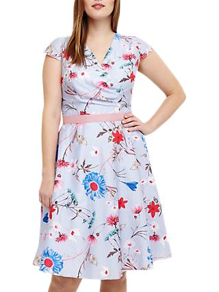 Studio 8 Millicent Floral Dress, Blue/Multi