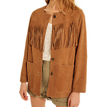 Buy Gerard Darel Riverside Leather Jacket, Brown Online at johnlewis.com