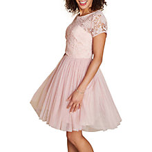 Buy Yumi Lace Skater Dress, Blush Online at johnlewis.com