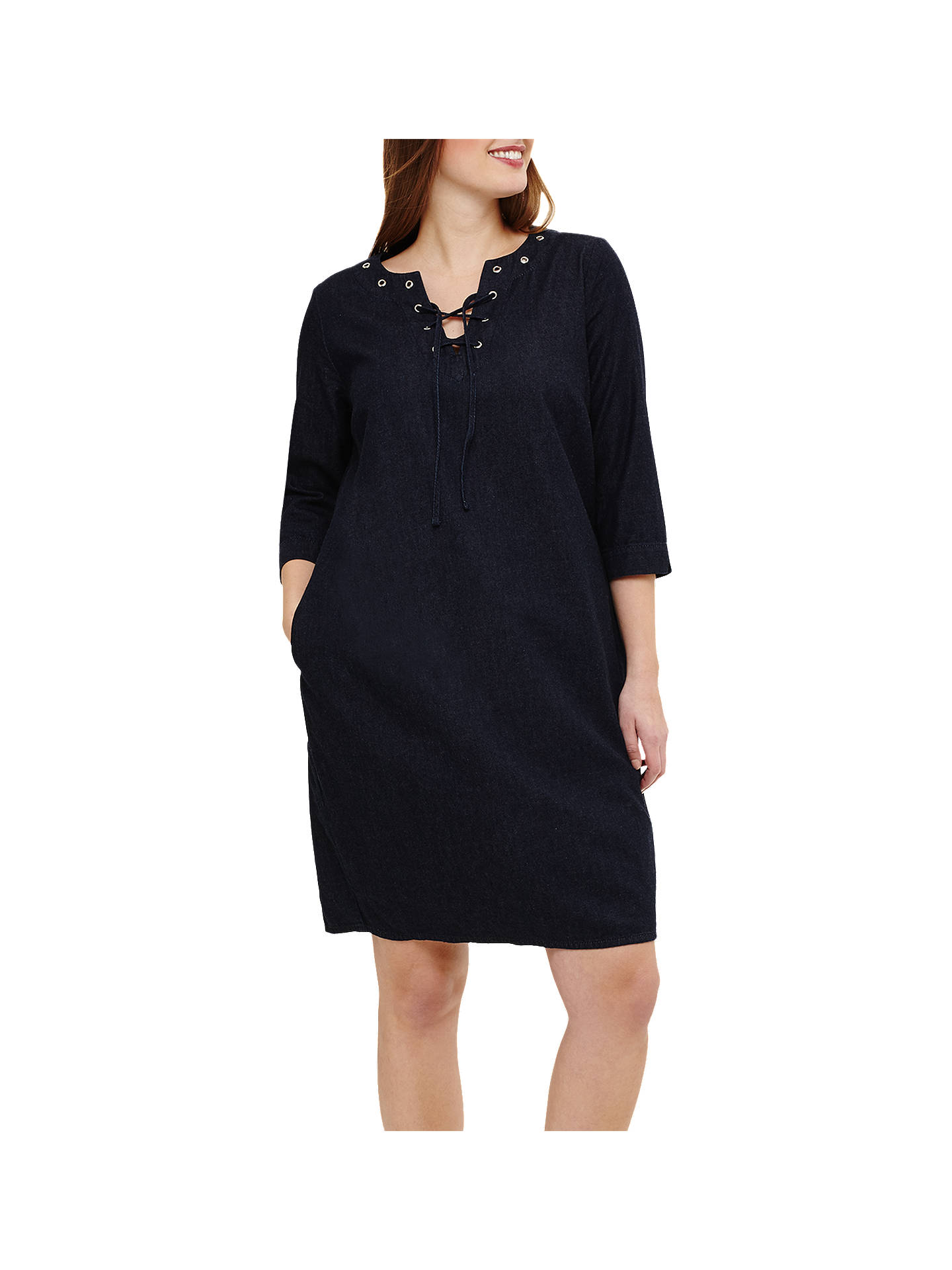 BuyStudio 8 Mabel Denim Dress, Dark Blue, 12 Online at johnlewis.com