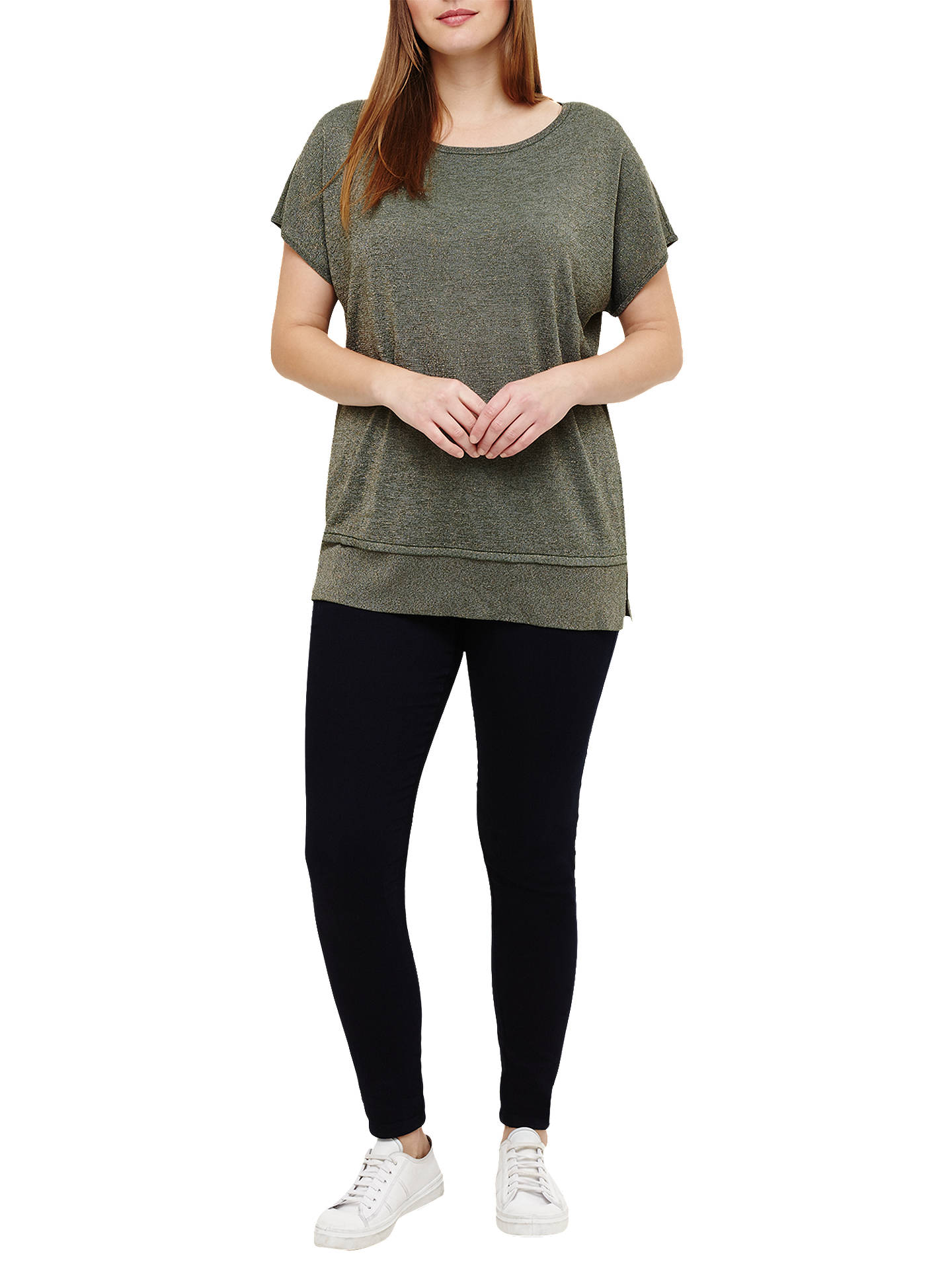 Buy Studio 8 Quinzy Shimmer Knit Top, Green, 12 Online at johnlewis.com