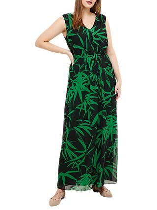 Studio 8 Lana Palm Print Maxi Dress, Green