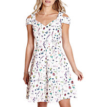 Buy Yumi Cold Shoulder Print Dress, Ivory Online at johnlewis.com
