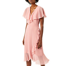 Buy Warehouse Soft Ruffle Dress Online at johnlewis.com