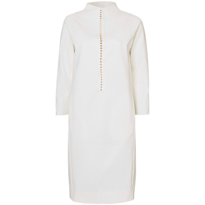 Winser London Crochet Inserted Miracle Dress, Ivory