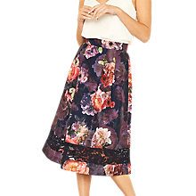 Buy Oasis Romance Floral Midi Skirt, Multi Online at johnlewis.com