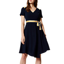 Buy Karen Millen Spliced Stripe College Dress, Navy Online at johnlewis.com