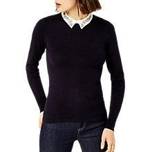 Buy Warehouse Diamante Collar Jumper Online at johnlewis.com