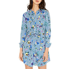 Buy Oasis Pressed Flower Shirt Dress, Multi/Blue Online at johnlewis.com