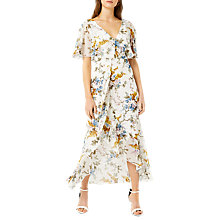 Buy Warehouse Trailing Floral Midi Dress, Multi Online at johnlewis.com