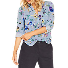 Buy Oasis Pressed Flower Shirt, Multi/Blue Online at johnlewis.com