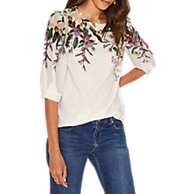 Buy Oasis Secret Garden Top, Off White Online at johnlewis.com