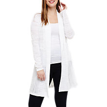 Buy Studio 8 Delilah Longline Cardigan, White Online at johnlewis.com